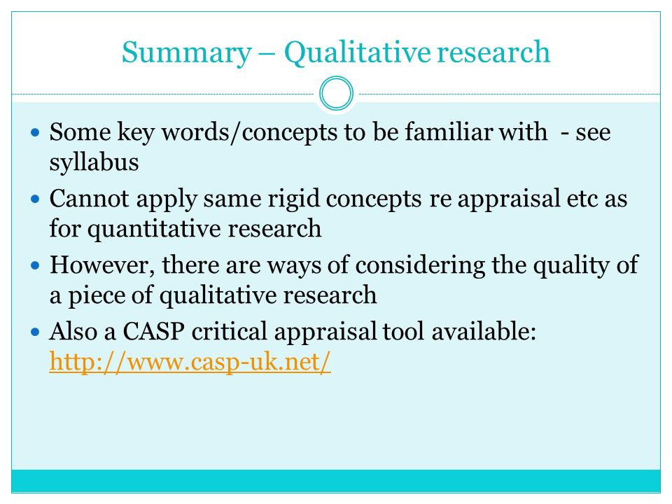 how to write a critical appraisal of qualitative research
