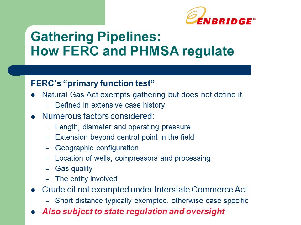 Regulation of Pipelines - ppt download