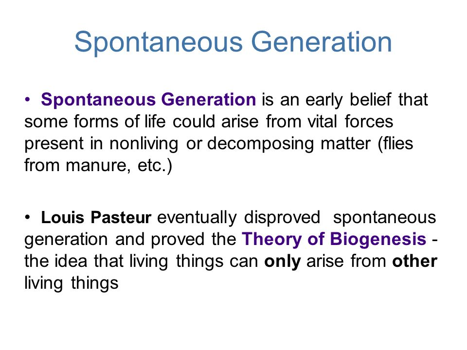 """an analysis of disproving spontaneous generation Biology cell theory-and-and spontaneous generation  meaning &quotlittle  animals&quot he is known as the """"father"""" of microscope   spallanzani louis pasteur(disproved it)  8."""
