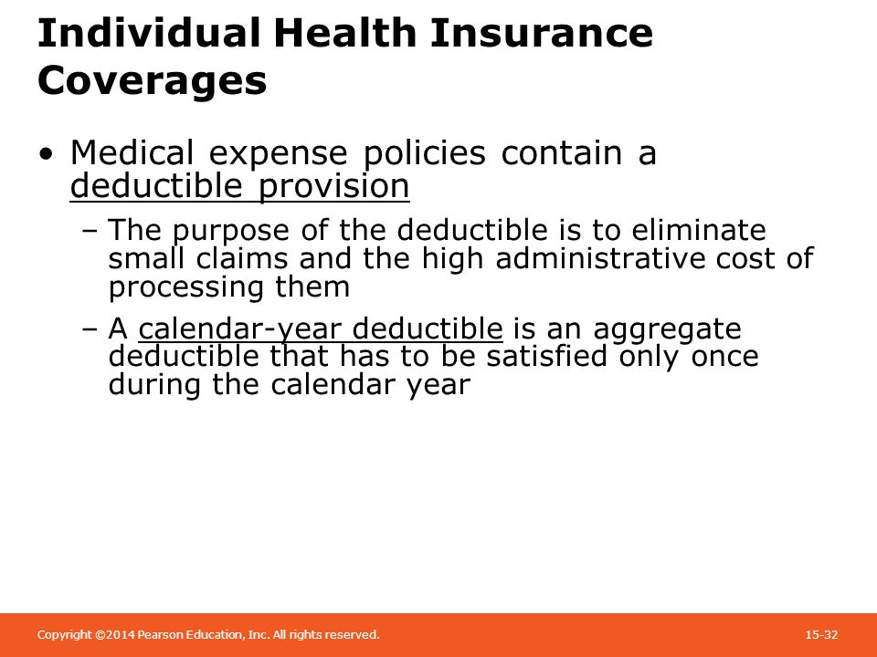 Calendar Year Health Insurance : Chapter health care reform individual insurance