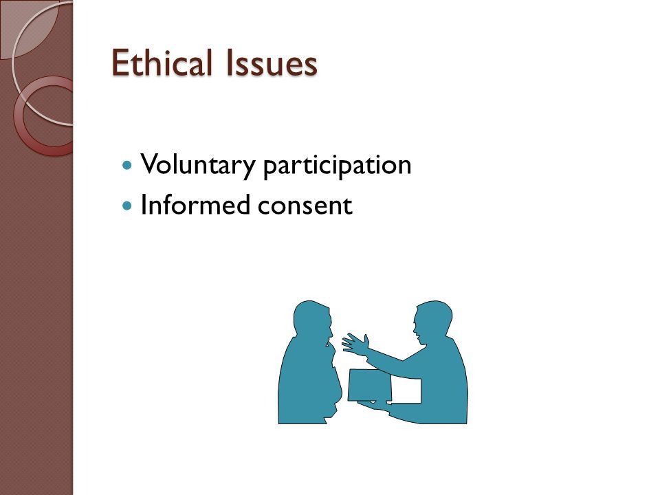 voluntary participation Voluntary participation a basic principle of research is that people should not be coerced into participation, particularly when they might object to being a 'guinea pig' this includes doing covert tests on people in the street who may otherwise never know they were participating.