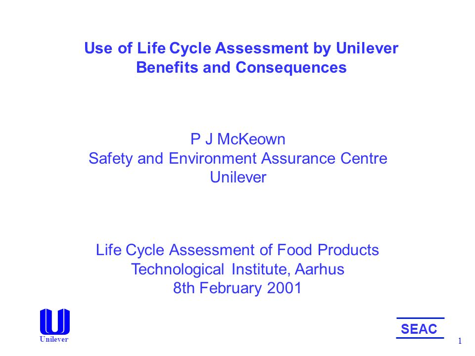 use of life cycle assessmentunilever benefits and consequences, Presentation templates
