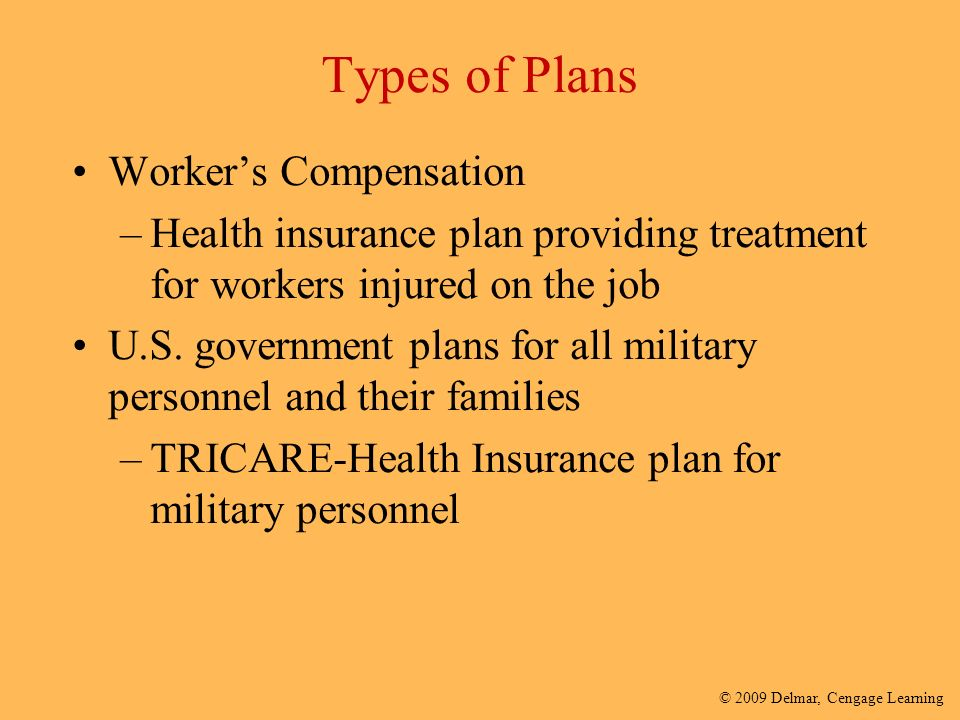 different types of workers compensation plans There are several different types of workers compensation  wether you are an employer experiencing a problem with a workers comp retro plan or an.