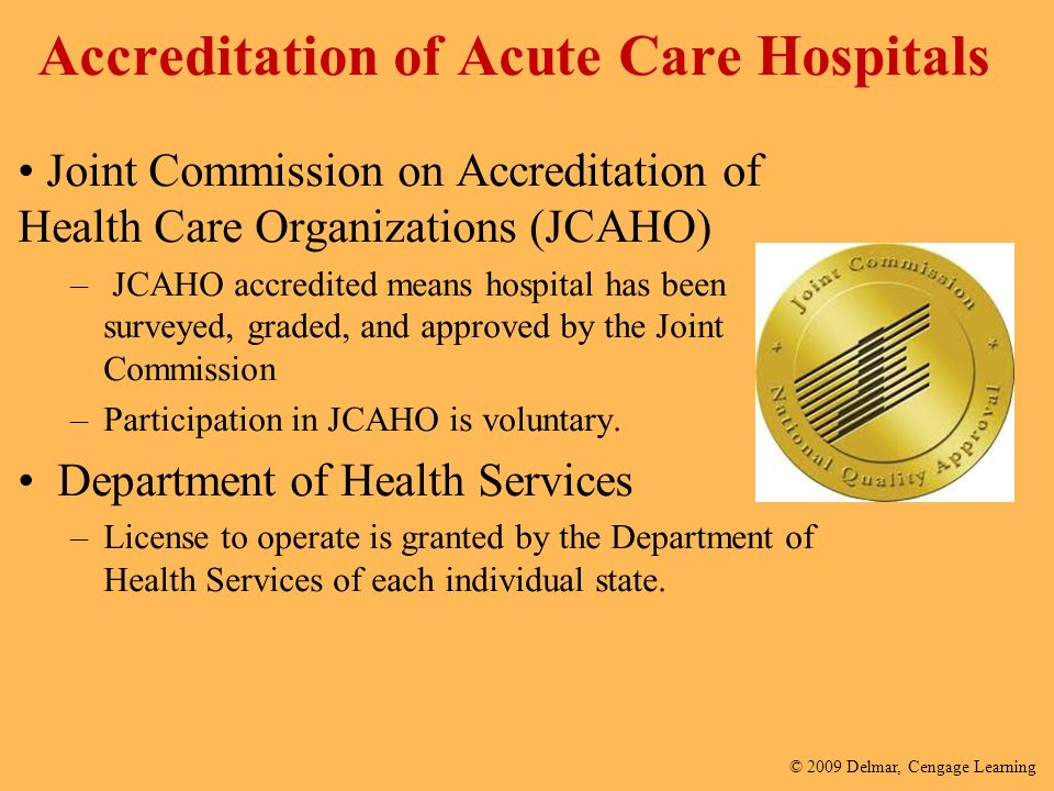 joint commission on accredidation of healthcare Joint commission accreditation in behavioral health  register below to learn more about how the owl can help your organization achieve joint commission accreditation complete the form below learn how a large health system used the owl to successfully implement measurement-based care.
