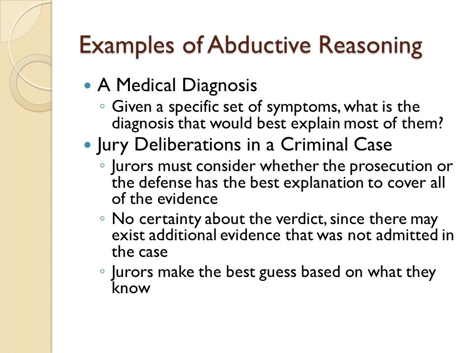Abductive reasoning | charles sanders peirce | inquiry.