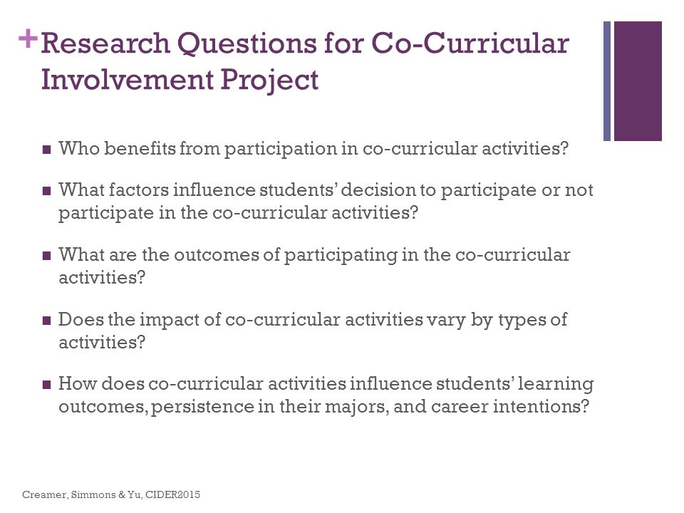 purpose of co curricular activities