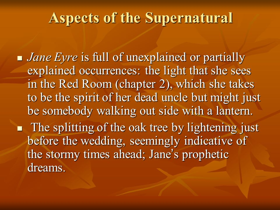 Aspects of the Supernatural
