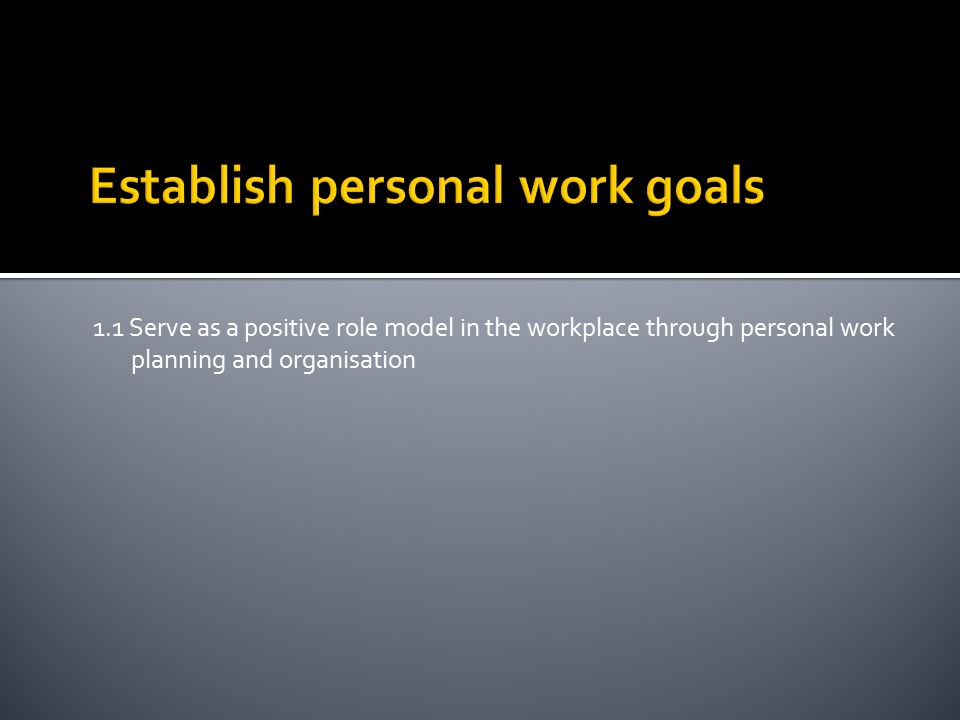 Manage personal work priorities and professional