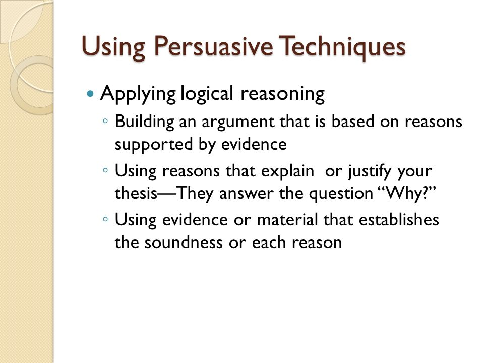 Using Persuasive Techniques