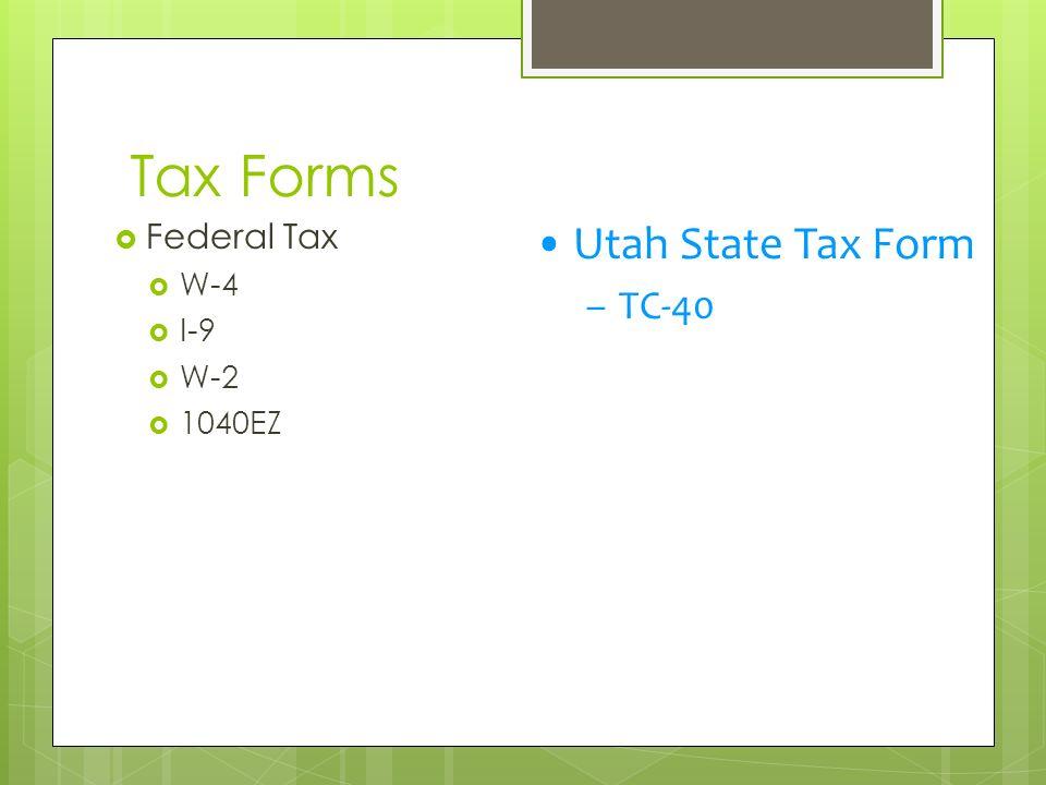 State Sales Tax State Sales Tax Form Utah