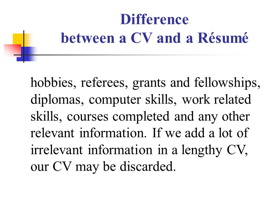 any other relevant information resume