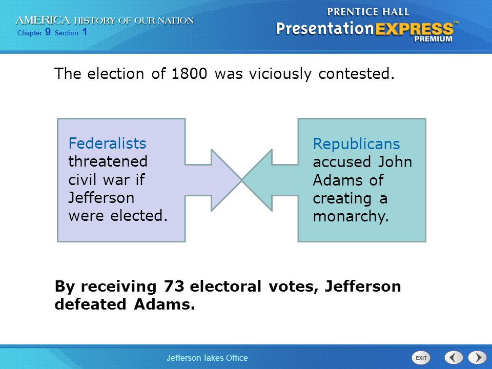 The election of 1800 was viciously contested.