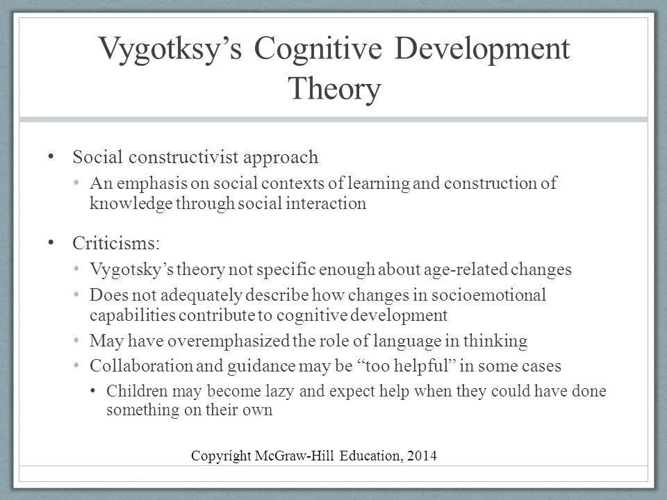 Developmental theories and how they relate to life's stages.