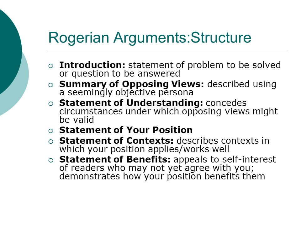 The Rogerian Argument And Assignment Guidelines Essay Sample    The Rogerian Argument And Assignment Guidelines
