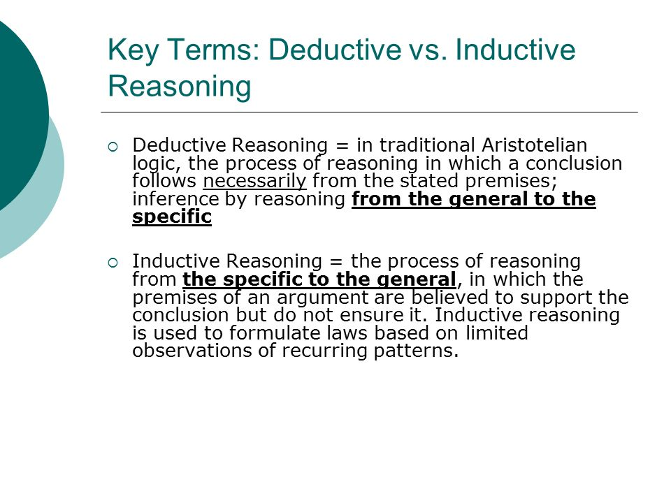 inductive paper reasoning research Inductive argument examples here are several examples of inductive arguments (this method of inductive reasoning proceeds from a premise about a sample group to a conclusion about another individual) i got an a for my research paper i'm sure i'll use your services again-jennifer s.