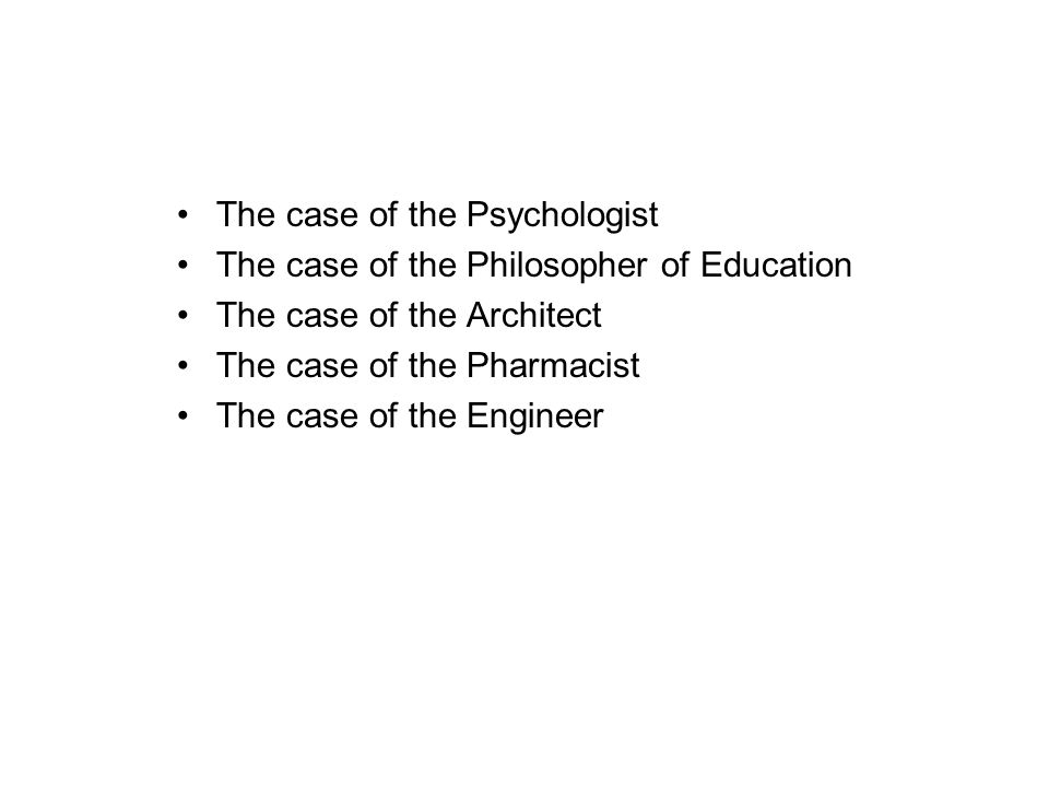 The case of the Psychologist