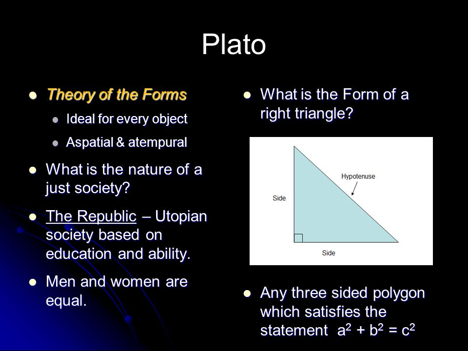 explain platos theory of the forms It is most of all from plato that we get the theory of forms,  (for platos, or broad), perhaps  and can teach and explain their subject.