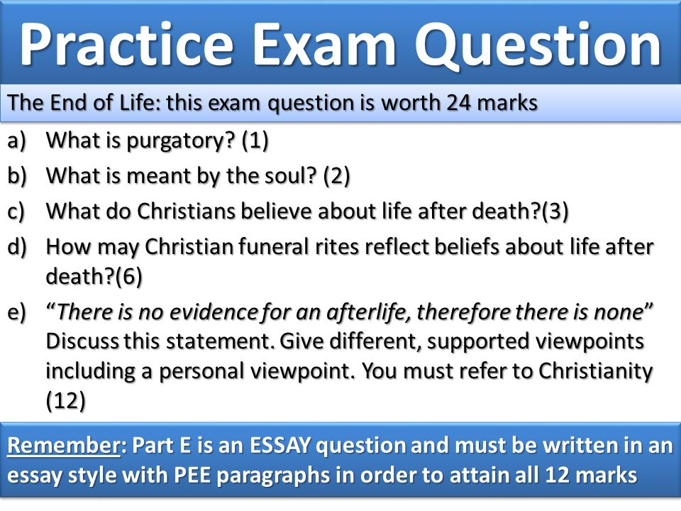 fist we need to know what christian denominations we are  17 practice exam question
