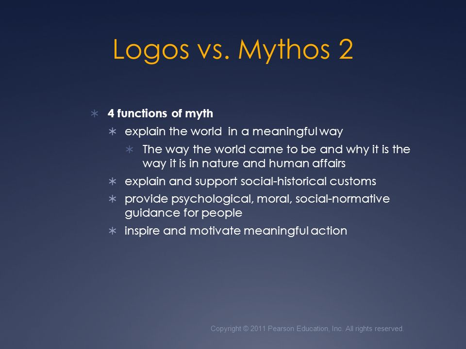 four functions of myth Four functions of fotlklore by william r bascom  of myth and  tale has nothing whatsoever to do with investigation of human psycholo and the.