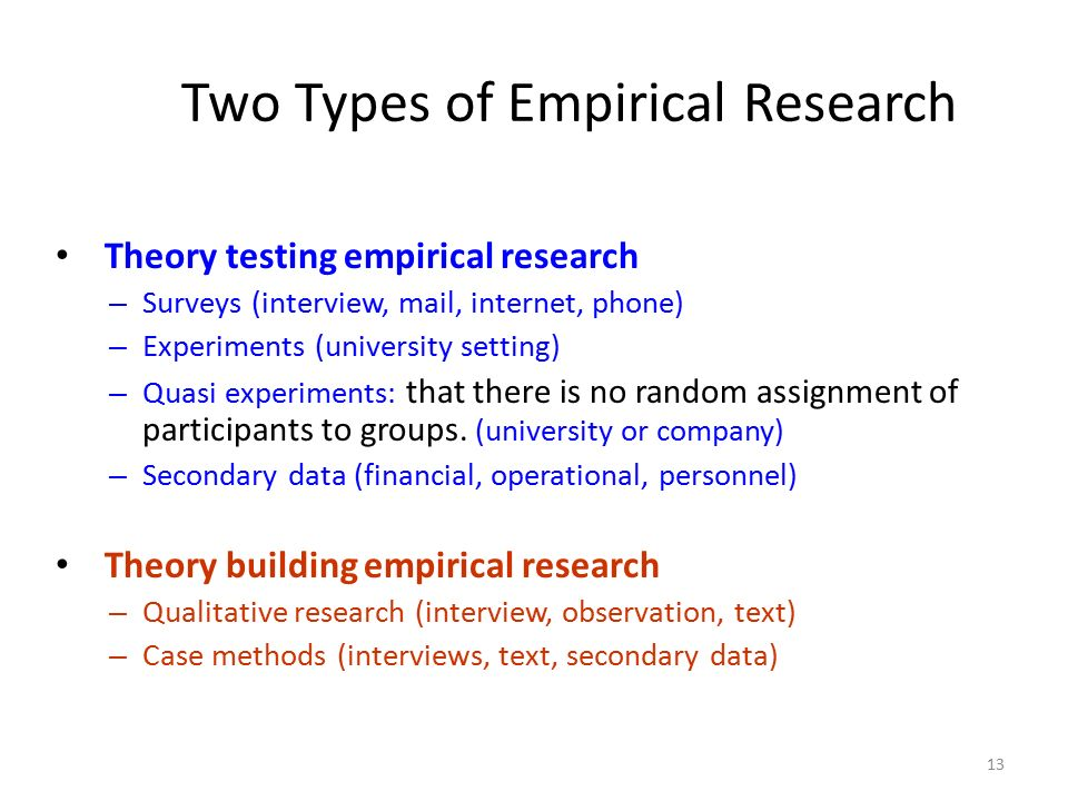 Two Types of Empirical Research