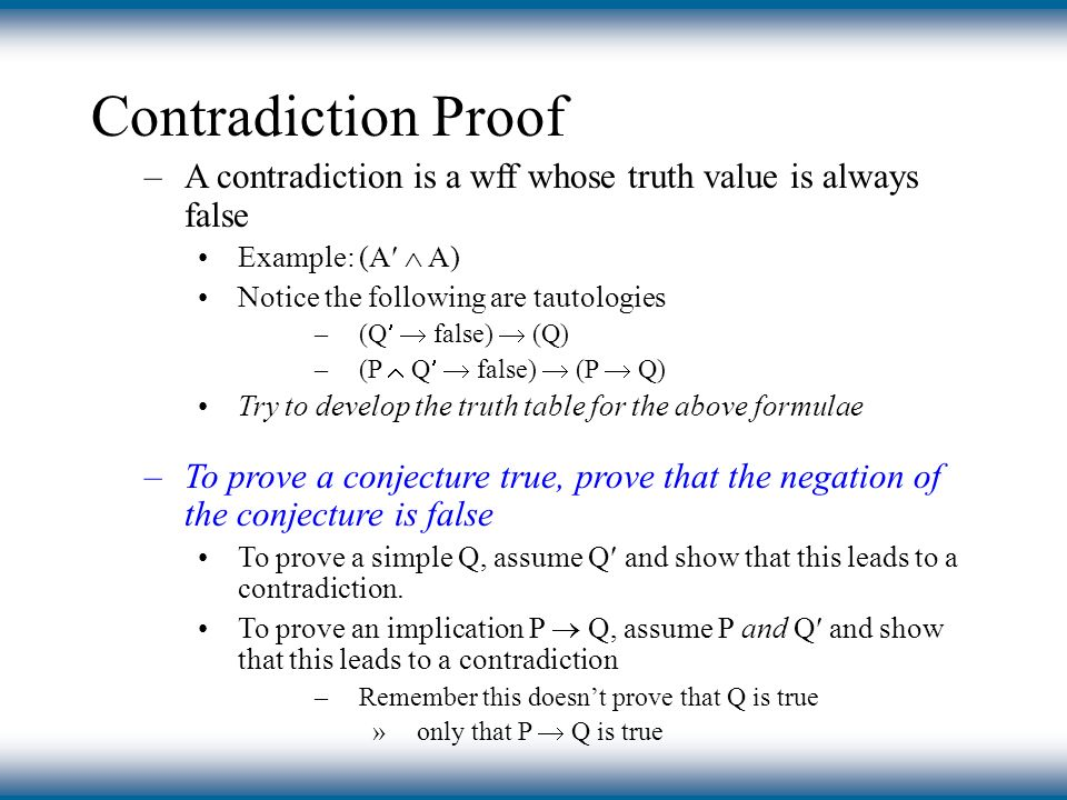 how to teach proof by contradiction