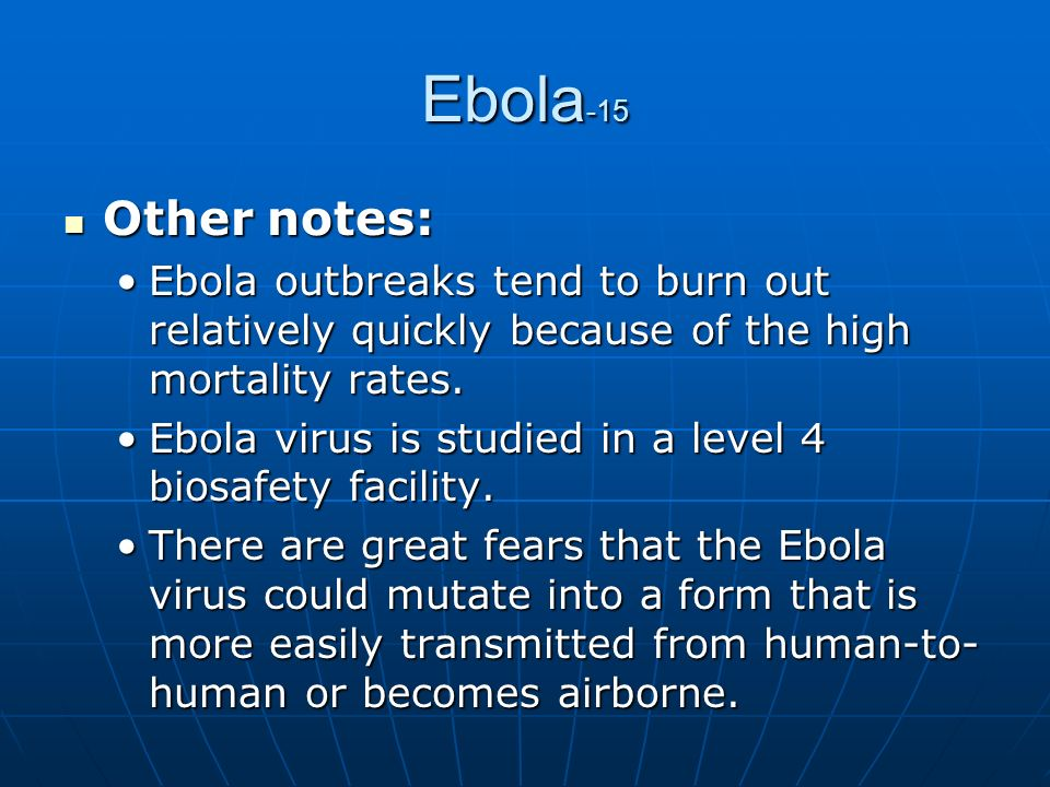 an overview of the level 4 virus from west africa lassa Lassa fever in west african sub-region: an overview o ogbua,  lassa fever is endemic in west africa and has been reported from sierra leone, guinea, liberia, and nigeria some  a critical overview of lassa virus infection in the west african sub-region with consideration of the.