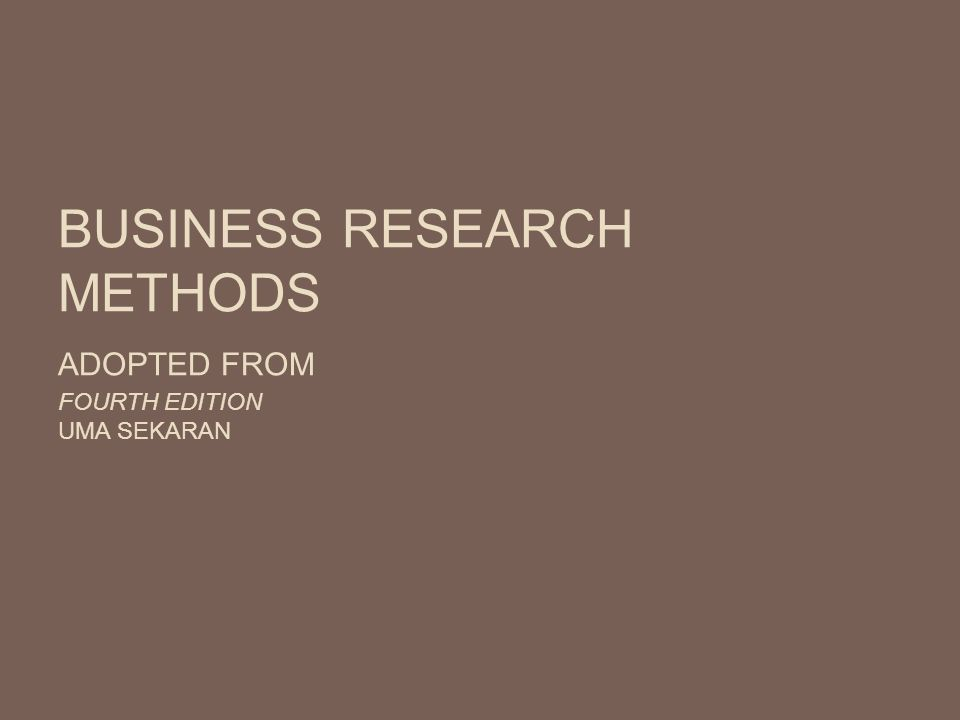 Research Methods for Business   A Skill Building Approach by Uma Sekaran  and Roger Bougie        Paperback    eBay SlideShare