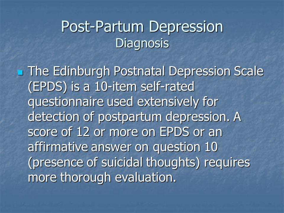 Post-Partum Depression Diagnosis