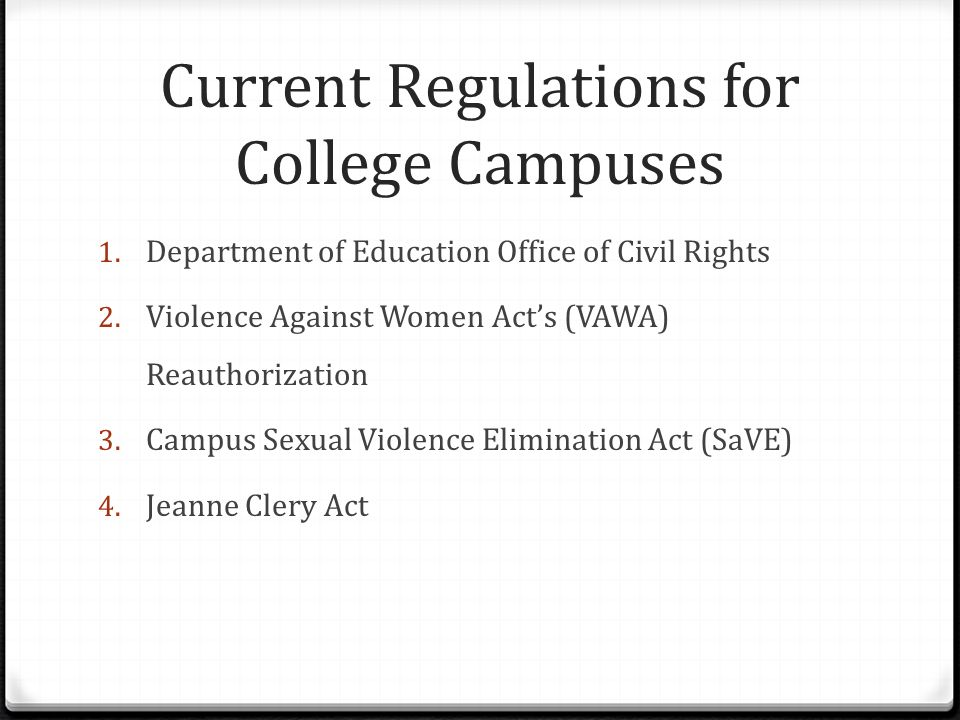 The campus sex crimes prevention act