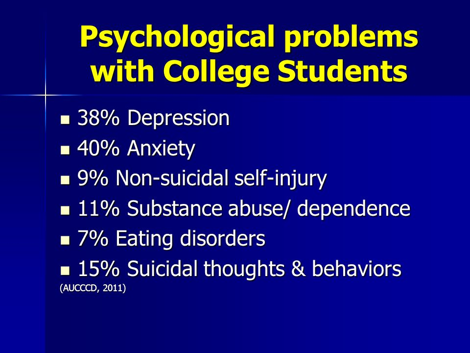 the issue of depression among college students Depression and anxiety are prevalent problems in colleges across the country  during college, students experience many firsts, including a new lifestyle, friends, .