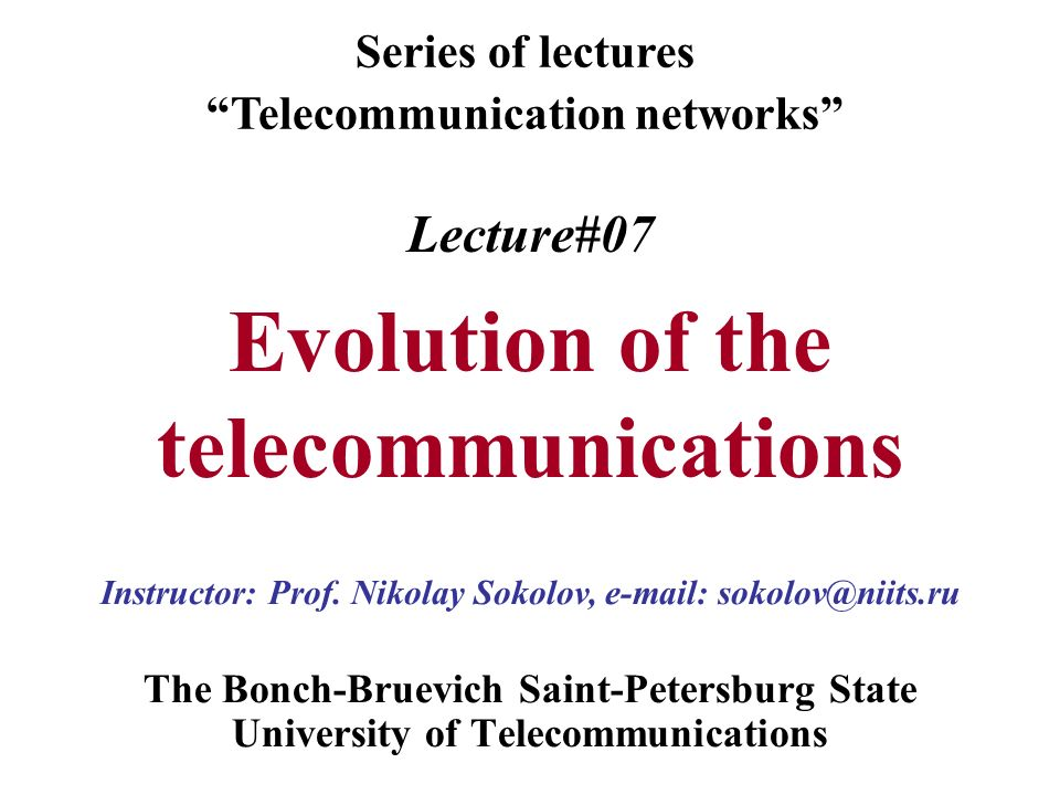 lecture#07 evolution of the telecommunications - ppt video online, Powerpoint templates