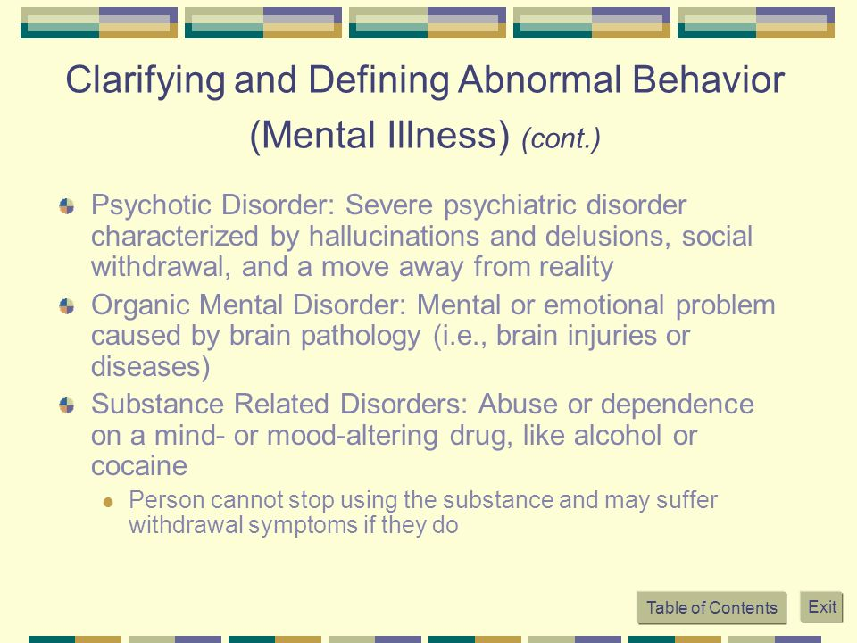 an analysis of a disorder characterized by disturbances in a person thoughts emotions or behavior in Mood disorders and compulsive behavior bipolar disorder a person suffering with bipolar disorder experiences two bipolar psychosis is characterized by two.
