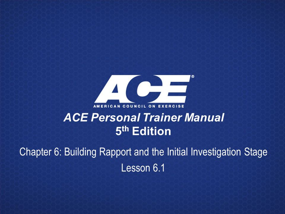 Download e-books ace personal trainer manual: the ultimate.
