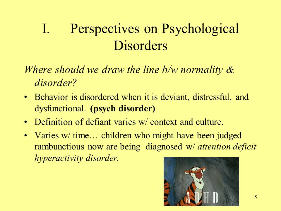 An analysis of the attention deficithyperactivity disorder in chronic disorders in children