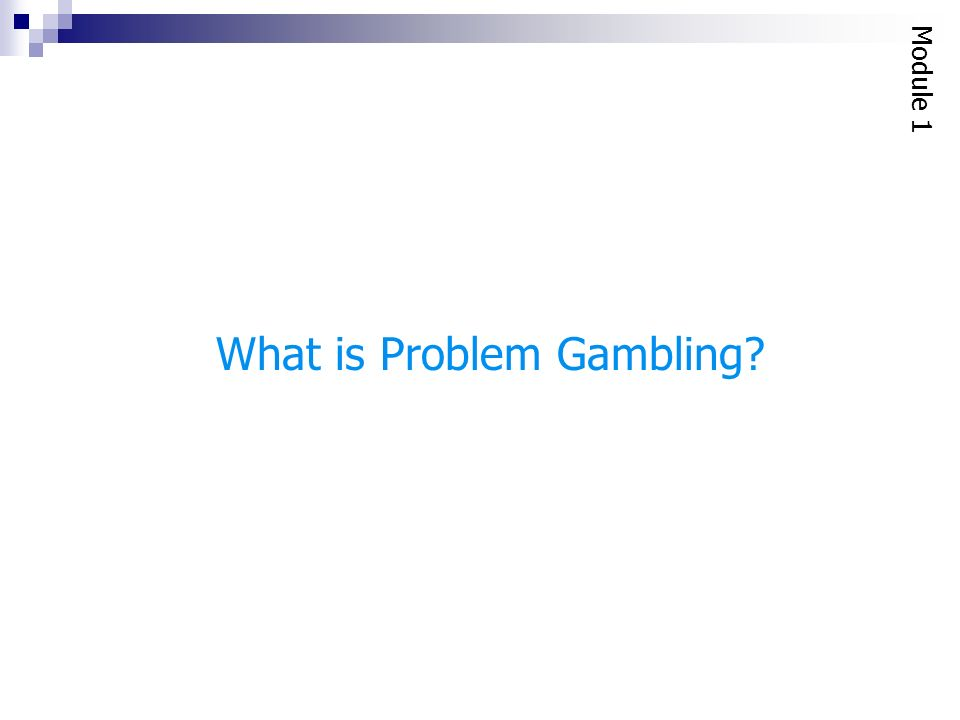 Gambling assessment module