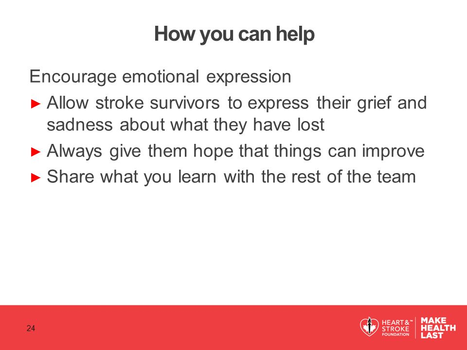 How you can help Encourage emotional expression