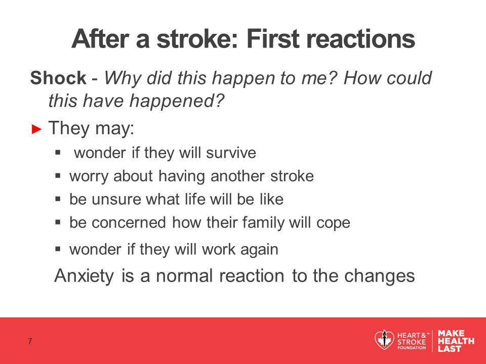 After a stroke: First reactions