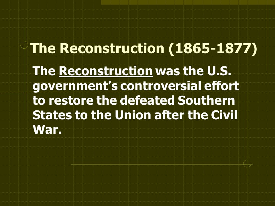 Unit 5 The Civil War And Reconstruction Ppt Video