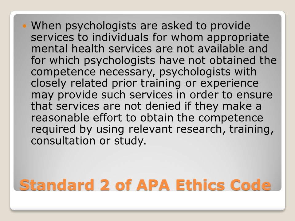 APA Ethics Office - apa.org
