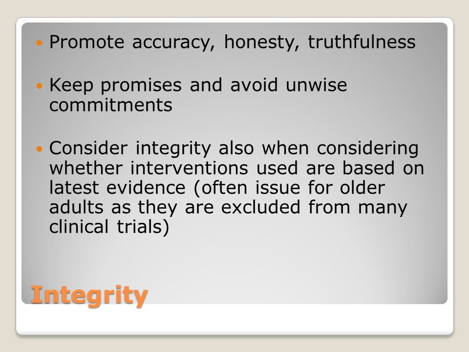 a limit that promotes integrity katherine