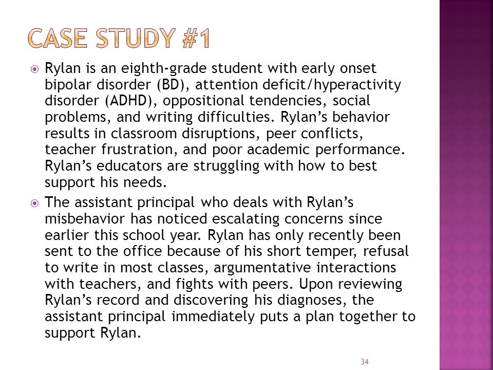 case study of adhd student Several other special education students classified as adhd and each time we have consistently had success in improving the student's grades and adjustment in the school and classroom implications of case study for peer tutoring.