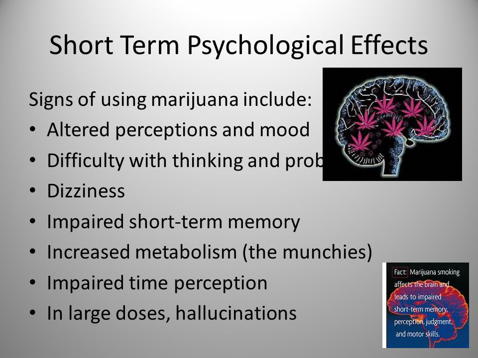 the short and long time effects of marijuana Ledge of the short- and long-term effects of cannabis on cognition based on  integrating evidence from the most recent literature on this topic we  acknowledge.