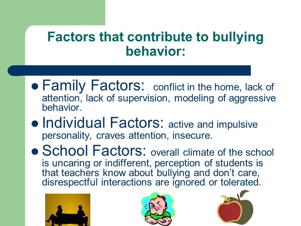 factors contributing to school violence Gang risk factors page 1 of 4 1 general forms of delinquency and violence however school risk factors low achievement in school and having learning problems are among the strongest school-related predictors of gang membership.