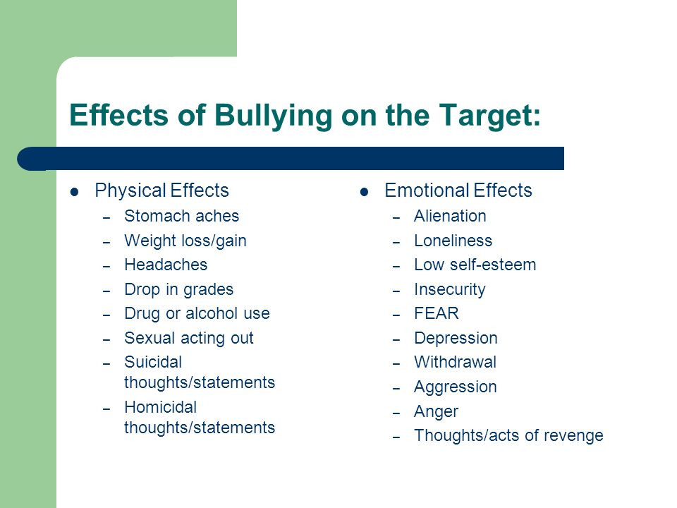 The Psychological Effects of Bullying on Kids & Teens