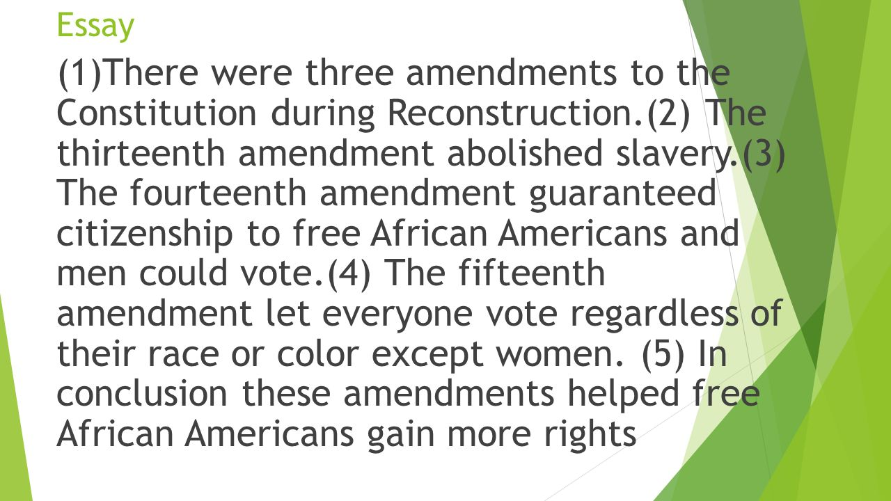 African americans and southern racism during reconstruction essay