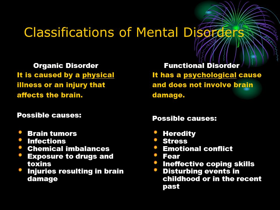 mental illness vs mental disorder The most common forms of mental illness are anxiety disorders, mood disorders,  and schizophrenia disorders brief introductory information about these.