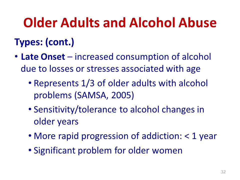 older adults alcohol misuse a Recent news reports in various media outlets have noted that across the country, alcohol use — and misuse — have gone up among usa older adults according to newsworks , the online home of whyy , a new study published in jama psychiatry found that be.