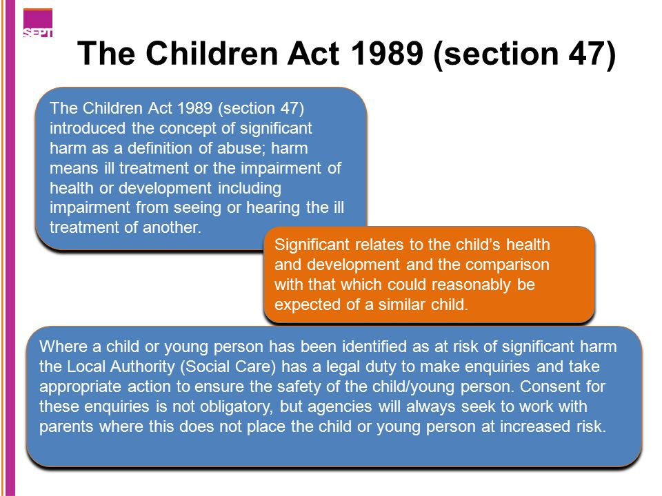 Child Protection Enquiries Section 47 Children Act 1989