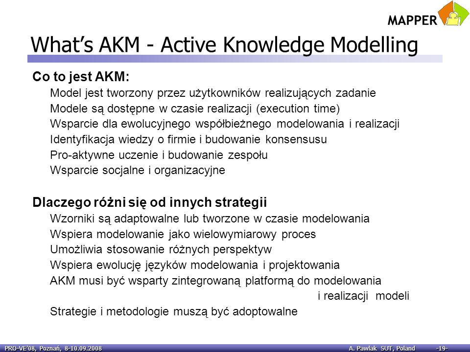 What's AKM - Active Knowledge Modelling