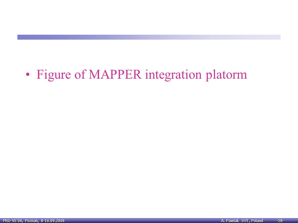 Figure of MAPPER integration platorm